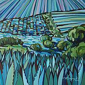 Картины и панно ручной работы. Ярмарка Мастеров - ручная работа Дар голубой агавы. Handmade.