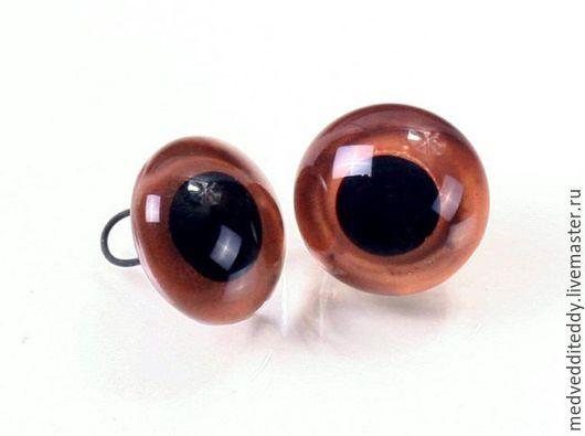 Куклы и игрушки ручной работы. Ярмарка Мастеров - ручная работа. Купить Глаза стеклянные коричневые 6,8,10 мм. Handmade.