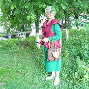 """Одежда ручной работы. Ярмарка Мастеров - ручная работа Жилет из шерсти,,Вишнёвые напевы"""". Handmade."""