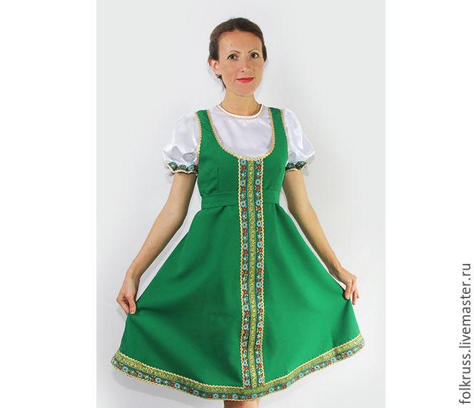 Русский народный костюм Елена женский, Народные костюмы, Москва,  Фото №1