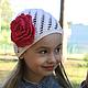 Шапки и шарфы ручной работы. Ярмарка Мастеров - ручная работа. Купить Летняя шапочка для девочки. Handmade. Белый, ажурная шапочка