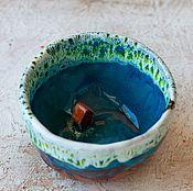 Посуда ручной работы. Ярмарка Мастеров - ручная работа Пиалка Дом у леса керамика. Handmade.