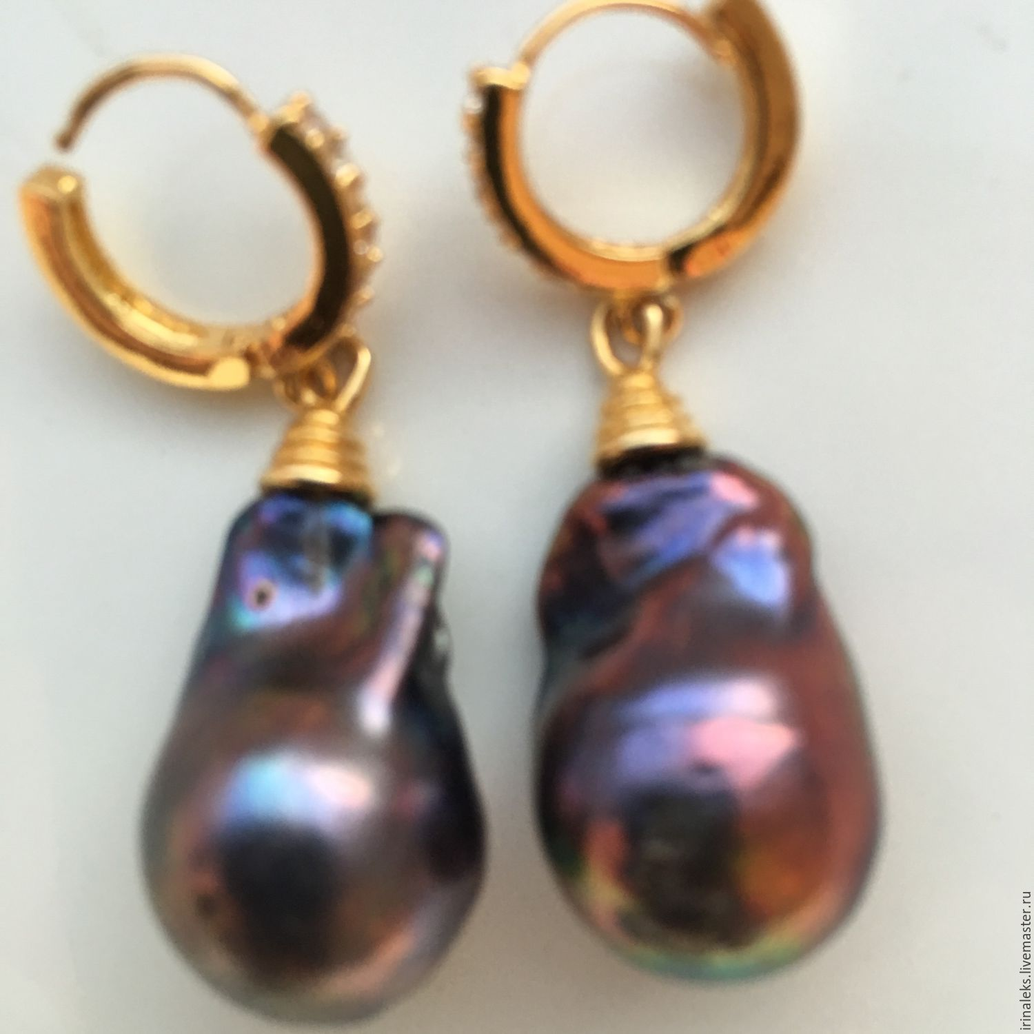 Earrings 'Violet', Earrings, Nizhny Novgorod,  Фото №1