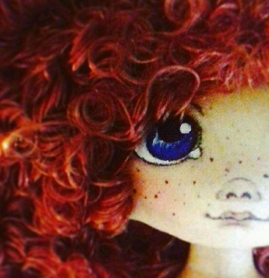 """Коллекционные куклы ручной работы. Ярмарка Мастеров - ручная работа. Купить Кукла текстильная ручной работы """"Рыжик"""". Handmade. Черешня"""