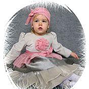 Работы для детей, ручной работы. Ярмарка Мастеров - ручная работа Нарядное платье в винтажном стиле. Handmade.