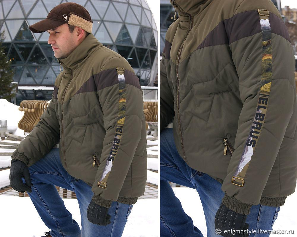 Зеленая куртка на молнии, куртка с воротником, весенняя куртка хаки, Куртки, Новосибирск,  Фото №1
