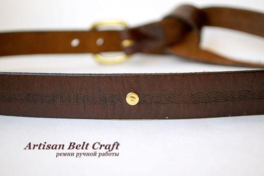 Узкий кожаный ремень с узлом на талии от Artisan Belt Craft
