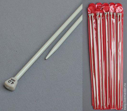 Вязание ручной работы. Ярмарка Мастеров - ручная работа. Купить Спицы прямые от 2 до 12 (прямые, тефлоновые). Handmade. Спицы