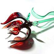 Подарки к праздникам handmade. Livemaster - original item Glass rose opened as a gift. Handmade.