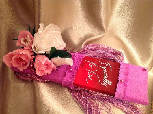 """Персональные подарки ручной работы. Ярмарка Мастеров - ручная работа. Купить Шоколад """"Для тебя"""". Handmade. Сиреневый, подарок девушке"""
