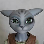 Куклы и игрушки ручной работы. Ярмарка Мастеров - ручная работа котик шарнирный Охотник. Handmade.