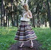 Одежда ручной работы. Ярмарка Мастеров - ручная работа Юбка Кружевель коричневая. Handmade.