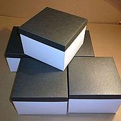 Материалы для творчества ручной работы. Ярмарка Мастеров - ручная работа Коробка из плотного белого картона с цветной крышкой. Handmade.