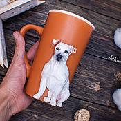 Посуда handmade. Livemaster - original item Jack Russell terrier mug. Portrait.. Handmade.