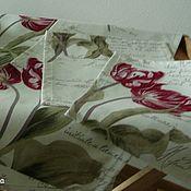 """Для дома и интерьера ручной работы. Ярмарка Мастеров - ручная работа Дорожки + салфетки """"Tulips Red"""". Handmade."""