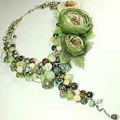 Украшения handmade. Livemaster - original item Valley Forest Of The Roses. Necklace, pendant, three brooches flower. Handmade.