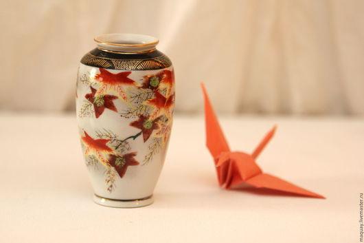 """Винтажные предметы интерьера. Ярмарка Мастеров - ручная работа. Купить Японская вазочка """"Осенняя"""", фарфор винтаж. Handmade. Комбинированный, винтаж"""