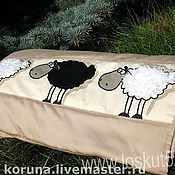 """Для дома и интерьера ручной работы. Ярмарка Мастеров - ручная работа Покрывало на детскую кровать """"Барашки"""". Handmade."""