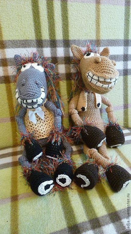 Игрушки животные, ручной работы. Ярмарка Мастеров - ручная работа. Купить вязаная лошадка. Handmade. Коричневый, подарок на новый год