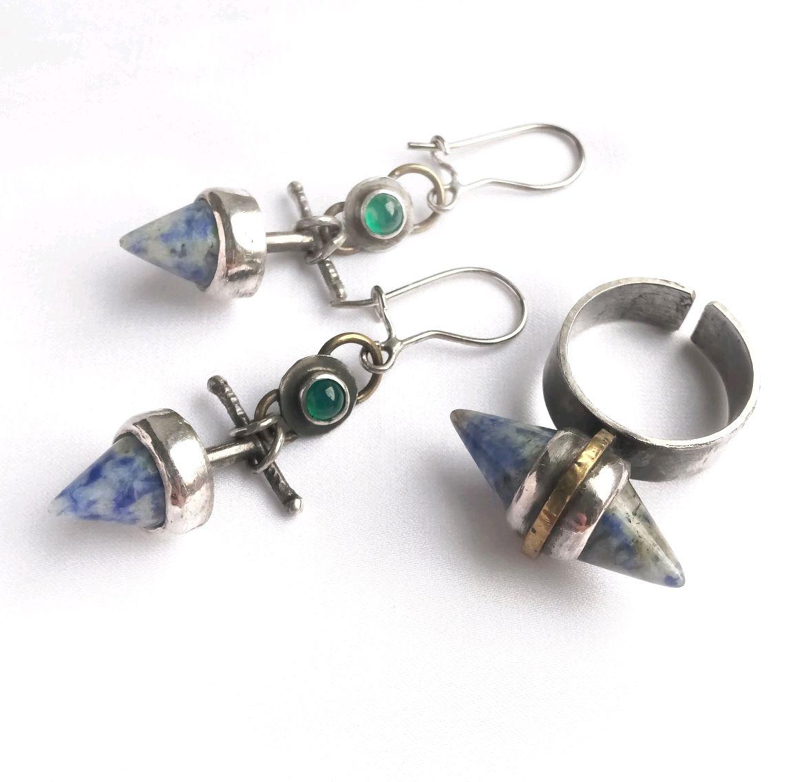 Set with lapis lazuli, Jewelry Sets, Nizhny Novgorod,  Фото №1