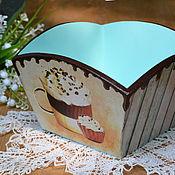Для дома и интерьера ручной работы. Ярмарка Мастеров - ручная работа Конфетница Мятный шоколад. Handmade.