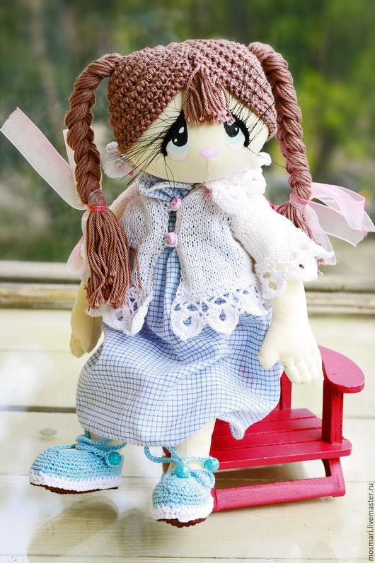 Человечки ручной работы. Ярмарка Мастеров - ручная работа. Купить Викуся (19 см сидя). Handmade. Кукла ручной работы