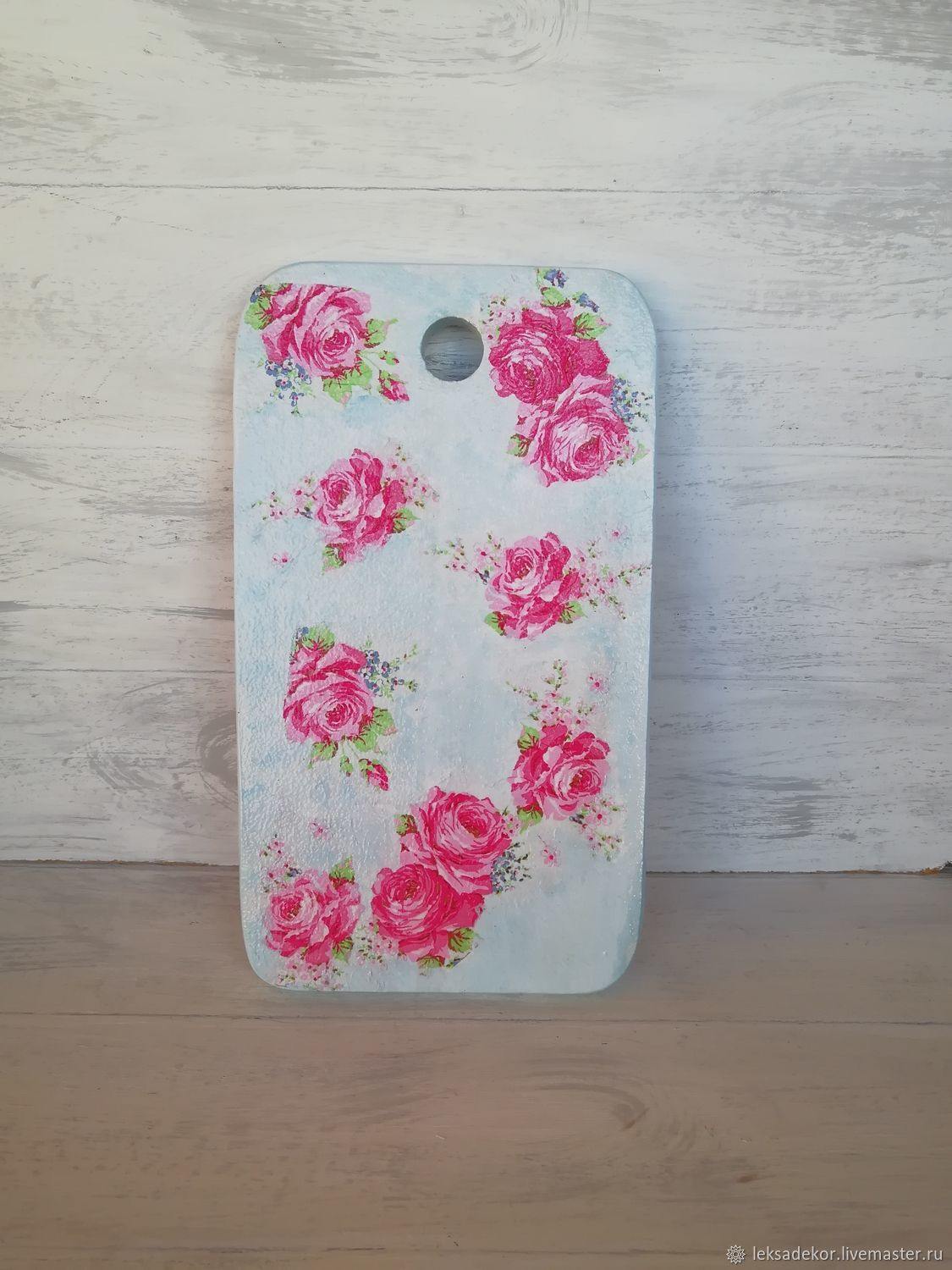 Wooden cutting Board with roses. Shabby chic, Cutting Boards, Moscow,  Фото №1