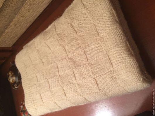 Текстиль, ковры ручной работы. Ярмарка Мастеров - ручная работа. Купить Плед вязаный. Handmade. Белый, плед для новорожденного