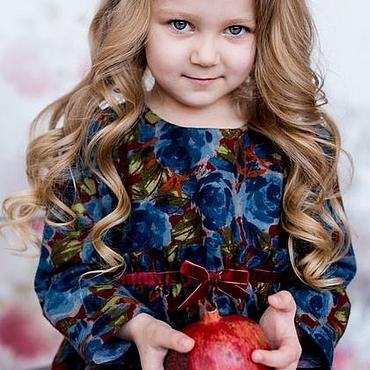 """Работы для детей, ручной работы. Ярмарка Мастеров - ручная работа """"Сказочный лес"""". Детское платье из хлопковой фланели в цветы. Handmade."""