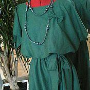 Одежда ручной работы. Ярмарка Мастеров - ручная работа Распродажа 48-50 размер  бохо платье (зеленый). Handmade.