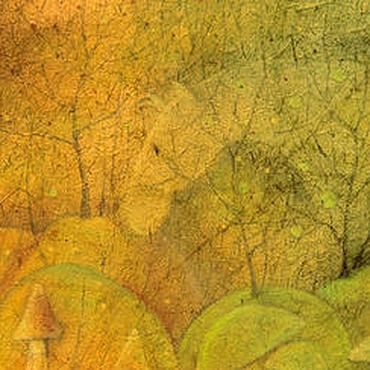 Картины и панно ручной работы. Ярмарка Мастеров - ручная работа Туманная лошадь...Картина-принт на холсте.. Handmade.