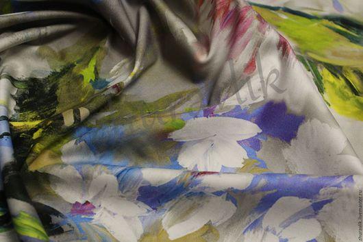 Шитье ручной работы. Ярмарка Мастеров - ручная работа. Купить Сатин   Escada. Оригинал !!!!. Handmade. Серый, ткани Италии