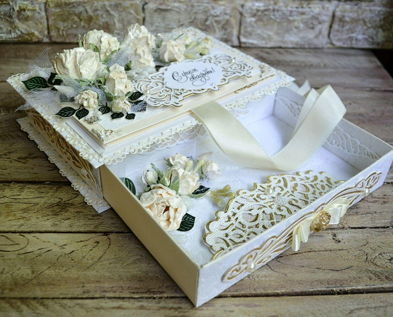 Тему, свадебная открытка коробочка своими руками