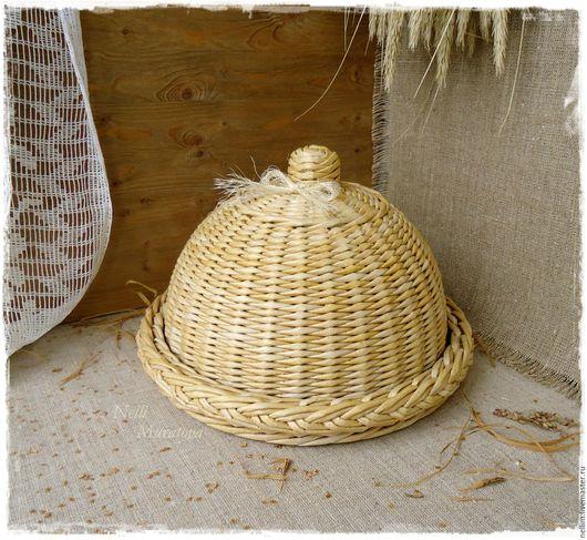 Кухня ручной работы. Ярмарка Мастеров - ручная работа. Купить Плетеная хлебница в стиле кантри. Handmade. Хлебница-клош, простота