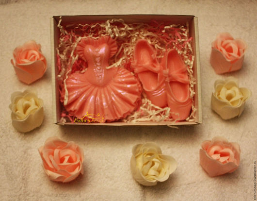 Подарочный набор мыла. Подарок балерине,танцовщице. Подарок учителю ритмике,танцев. День учителя.Edenicsoap.
