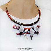 Украшения handmade. Livemaster - original item Choker for the choker of the Northern birds. Handmade.