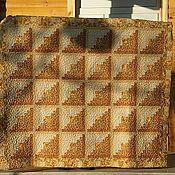 """Для дома и интерьера ручной работы. Ярмарка Мастеров - ручная работа Лоскутное покрывало  """"Бревенчатый домик"""". Handmade."""