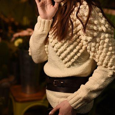 Одежда ручной работы. Ярмарка Мастеров - ручная работа Свитер оверсайз с шишками. Handmade.