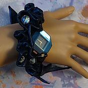 """Украшения ручной работы. Ярмарка Мастеров - ручная работа Часы """"Сапфировое время"""". Handmade."""