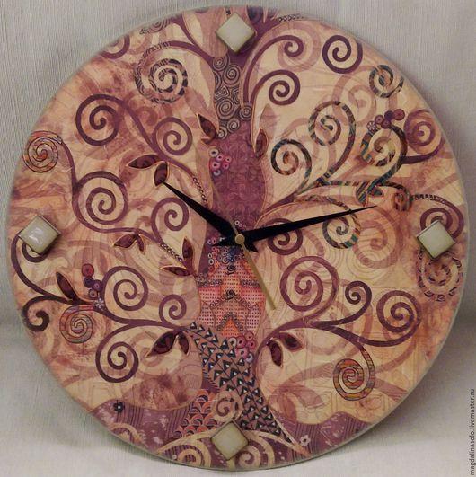 Часы для дома ручной работы. Ярмарка Мастеров - ручная работа. Купить Часы. Handmade. Бежевый, подарок на любой случай