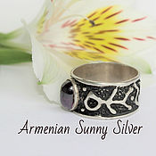Украшения handmade. Livemaster - original item Ring of silver 925 sample with amethyst. Handmade.