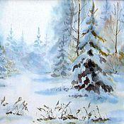 """Картины и панно ручной работы. Ярмарка Мастеров - ручная работа картина """"Зима"""". Handmade."""