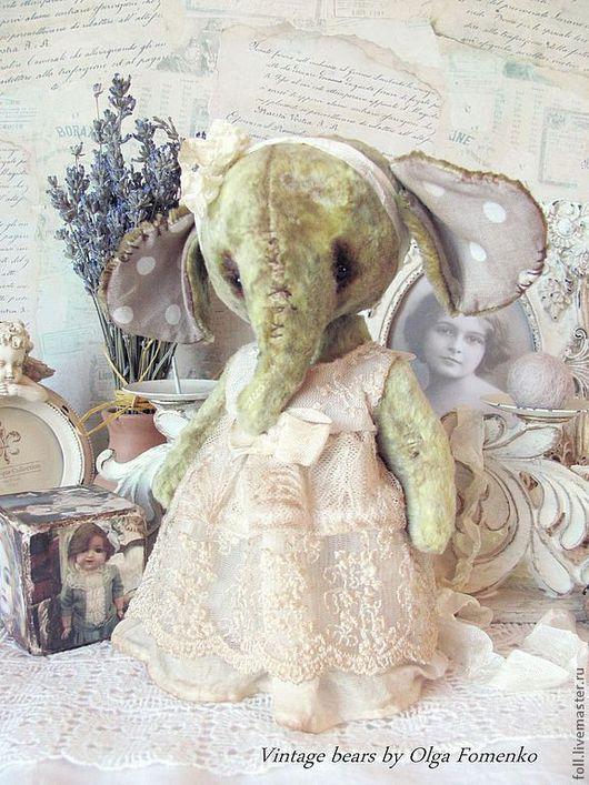 """Мишки Тедди ручной работы. Ярмарка Мастеров - ручная работа. Купить Слоняшка """"Циля"""". Handmade. Слоник, плюшевый слоник, утяжелитель"""