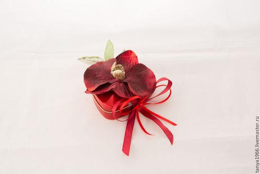 Букеты ручной работы. Ярмарка Мастеров - ручная работа. Купить Комплимент с орхидеей. Handmade. Бордовый, сладкий букет, подарок женщине