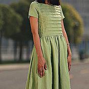 Одежда ручной работы. Ярмарка Мастеров - ручная работа Зеленое платье Зеленое платье длинное Платье. Handmade.