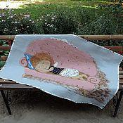 """Для дома и интерьера ручной работы. Ярмарка Мастеров - ручная работа Детский валяный плед """"Тихонечко"""",по мотивам картин Е.Гапчинской. Handmade."""