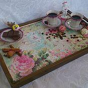 Для дома и интерьера handmade. Livemaster - original item Interior tray - table on legs. Handmade.