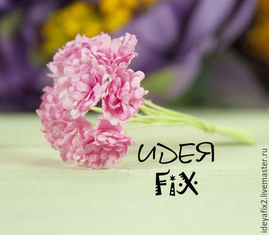 Цена указана за букет из 10 цветочков.  Длина бутона - 1 см. Длина проволочного стебелька - 5,5 см.