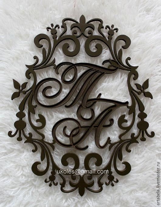 Свадебные аксессуары ручной работы. Ярмарка Мастеров - ручная работа. Купить Монограмма. Handmade. Мятный, любовь, подарок жене