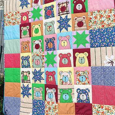 Для дома и интерьера ручной работы. Ярмарка Мастеров - ручная работа Лоскутный плед  Лоскутные текстильные комплекты. Handmade.